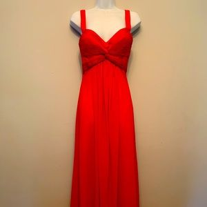 lafemme Dark Red Prom Dress. Size 0